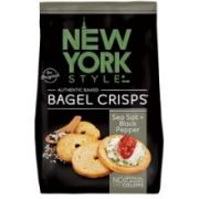 New York Style Sea Salt and Cracked Pepper Bagel Crisps, 7.2 Ounce -- 12 per case.