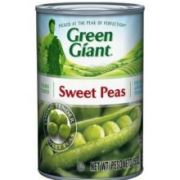 Green Giant Medium Sweet Peas Vegetable, 15 Ounce -- 24 per case.