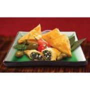 Athens Foods Spinach and Cheese Fillo Triangle Spanakopita - Appetizer, 1 Ounce -- 96 per case.