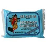 Seasons Norway Sardines in Olive Oil, 3.75 Ounce -- 12 per case.