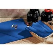 Hoffmaster 820-D22 Linen-Like Solid Navy Blue Color Napkin Band 16 x 16 inch Flat Pack, 4 packs of each 125 -- 500 per case.