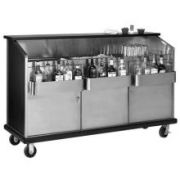 Advance Tabco Ambassador Portable Bar - Open Front with Bar King Speedrails, 6 feet -- 1 each.