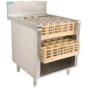 Advance Tabco Prestige 24 inch Series Open Glass Rack Storage Cabinet -- 1 each.