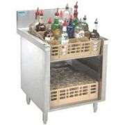 Advance Tabco Prestige 24 inch Series Slanted Glass Rack Storage Cabinet -- 1 each.