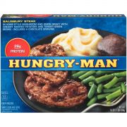 Hungry Man Salisbury Steak, 18 Ounce -- 8 per case.