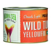Natural Sea Yellow Fin Chunk Light Tuna - without Salt, 66.5 Ounce -- 6 per case.