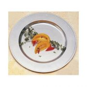 Teal Bon Chef Rimmed Charger, 13 inch Diameter -- 3 per case.