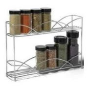 Spectrum Chrome Countertop 2 Tier Spice Rack, 8.5 x 3 x 13 inch -- 1 each.