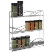 Spectrum Chrome Countertop 3 Tier Spice Rack, 13.5 x 3 x 13 inch -- 1 each.