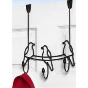 Spectrum Black Tweet Over the Door 3 Hook Rack, 14.25 x 5 x 10.75 inch -- 1 each.