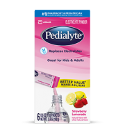 Pedialyte Strawberry Lemonade Electrolyte Powder, 0.6 Ounce 6 count per pack -- 6 per case.