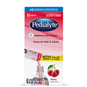 Pedialyte Cherry Electrolyte Powder, 0.6 Ounce  6 count per pack -- 6 per case.