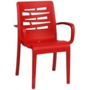 Grosfillex Essenza Red Stacking Armchair -- 4 per case.