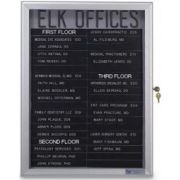 Fabric - Marble(MB) Radius slim Line Enclosed Easy Tack Board. Size: 24 inch X 36 inch -- 1 each.