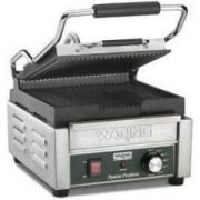 Waring Commercial Compact Italian Style Panini Perfetto Gill, 9 34 x 9 1/4 inch -- 1 each.