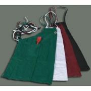 White Winco Full Length Bib Apron with Pocket, 31 x 26 inch -- 1 each.
