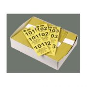 Yellow Winco Paper Coat Check Tag - 500 per box -- 20 boxes per case.