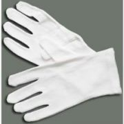 Large Winco White Cotton Disposable Knitting Glove -- 12 per case.
