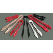 Black Winco Polycarbonate Flat Grip Tong, 6 inch -- 1 each.