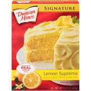 Duncan Hines Signature Lemon Supreme Moist Cake Mix, 15.25 Ounce -- 12 per case.