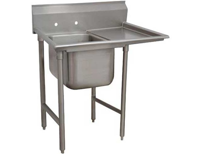 Super Saver 900 Series Stainless Steel Regaline Sink with 1 Compartment, Right Drain Board.Overall Length 50 inch -- 1 each.