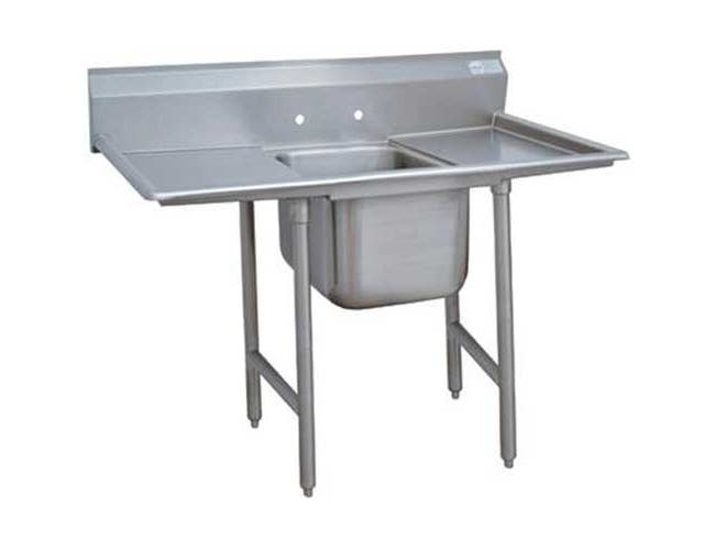 Super Saver 900 Series Stainless Steel Regaline Sink with 1 Compartment, 2 Drain Board.Overall Length 98 inch -- 1 each.