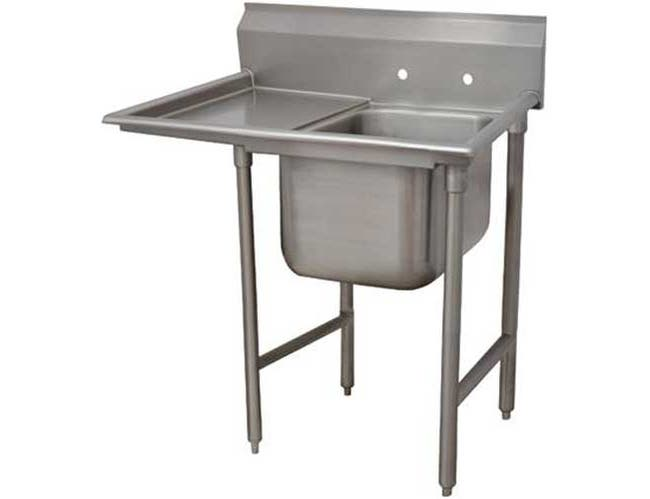 Standard 930 Series Stainless Steel Regaline Sink with 1 Compartment, Left Drain Board.Overall Length 62 inch -- 1 each.