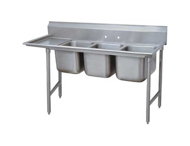 Standard 930 Series Stainless Steel Regaline Sink with 3 Compartment, Left Drain Board.Overall Length 119 inch -- 1 each.