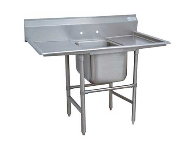 Spec-line 940 Series Stainless Steel Regaline Sink with 1 Compartment, 2 Drain Board.Overall Length 74 inch -- 1 each.