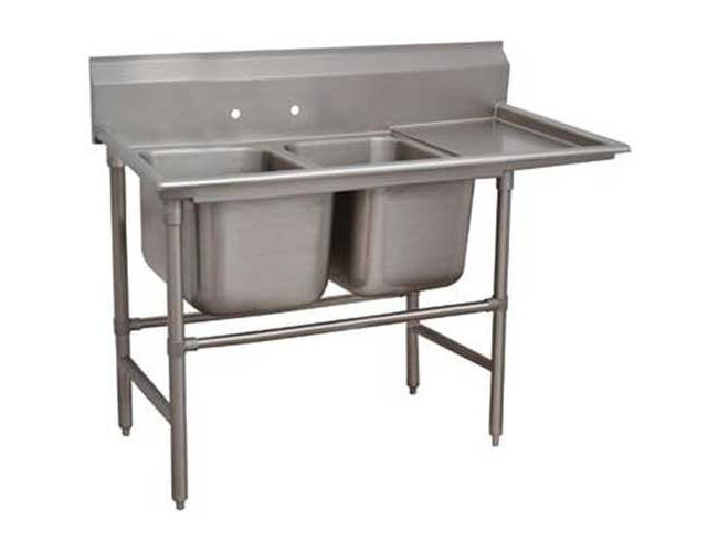 Spec-line 940 Series Stainless Steel Regaline Sink with 2 Compartment, Right Drain Board.Overall Length 76 inch -- 1 each.