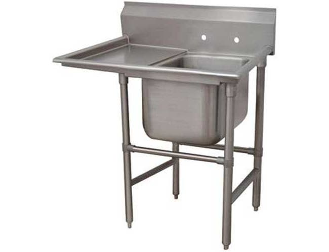Spec-line 940 Series Stainless Steel Regaline Sink with 1 Compartment, Left Drain Board.Overall Length 60 inch -- 1 each.