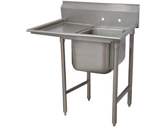 Super Saver 900 Series Stainless Steel Regaline Sink with 1 Compartment, Left Drain Board.Overall Length 58 inch -- 1 each.