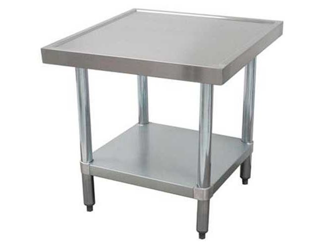 Mixer Table With Galvanized Base and Undershelf, 30 x 30 inch -- 1 each.