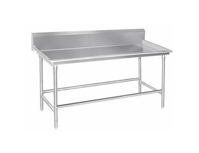 Stainless Steel 3 inch Raised Edge Sort Table with 10 inch Backsplash. Size: 30 X 96 inch -- 1 each.