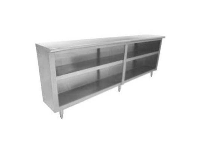 Stainless Steel Ceiling Mounted Shelving With Double Shelving, 18 x 60 inch -- 1 each.