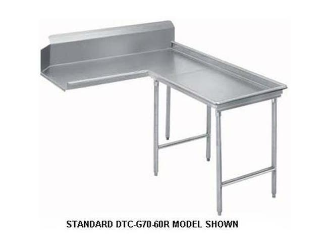 Super Saver G60 Series Stainless Steel Clean Island 12 Feet Dishtable Left -- 1 each.