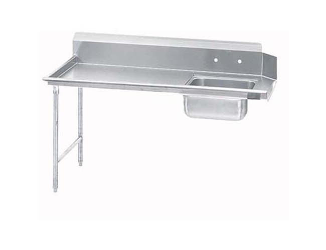 Super Saver S60 Series Stainless Steel Soil Straight 5 Feet Dishtable Left -- 1 each.
