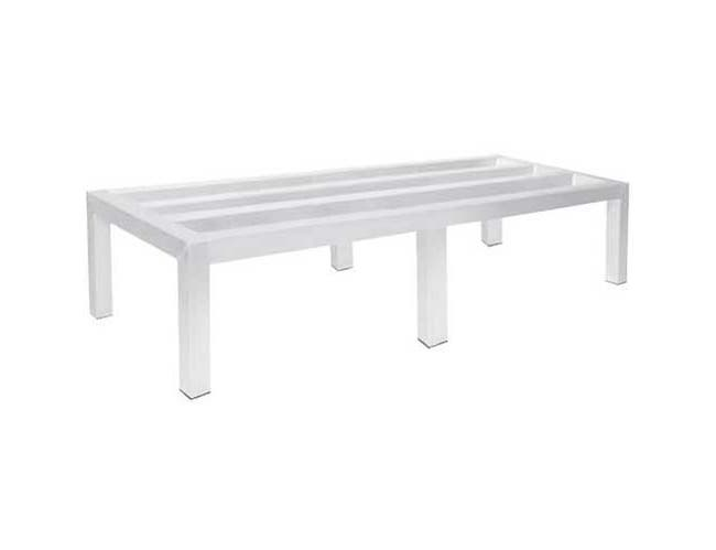 Stainless Steel Flat Top Enclosed Base Work Table - Open Base, 24X144 inch -- 1 each.