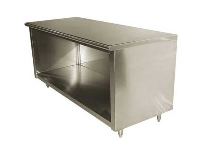 Stainless Steel Flat Top Enclosed Base Work Table - Open Base, 30X108 inch -- 1 each.