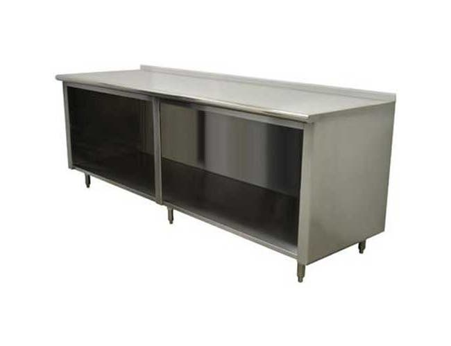 Stainless Steel 1 1/2 inch Backsplash Enclosed Base Work Table - Open Base, 36X48 inch -- 1 each.