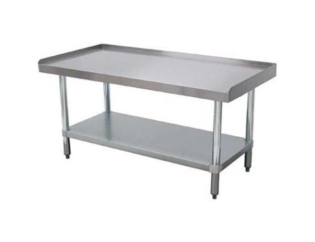 Equipment Galvanized Stand With Undershelf, 30 x 48 inch -- 1 each.