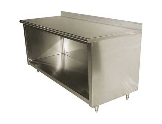 Stainless Steel 5 inch Splash Enclosed Base Work Table - Open Base, 30x108 inch -- 1 each.
