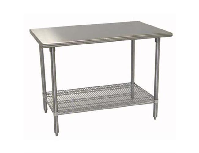 Equipment Stainless Steel Stand With Undershelf, 24 x 36 inch -- 1 each.