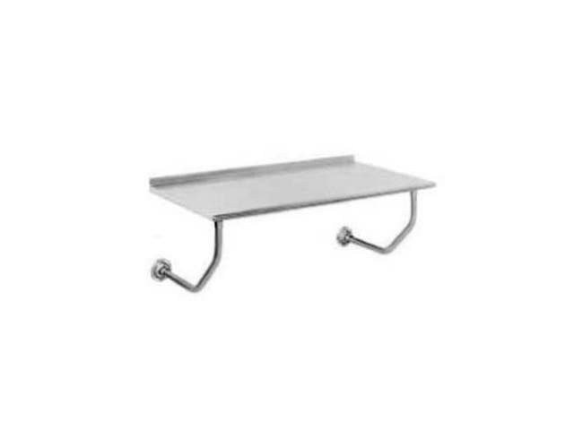 Stainless Steel Wall Mounted Table with 1 1/2 inch Splash, 30 x 48 inch -- 1 each.