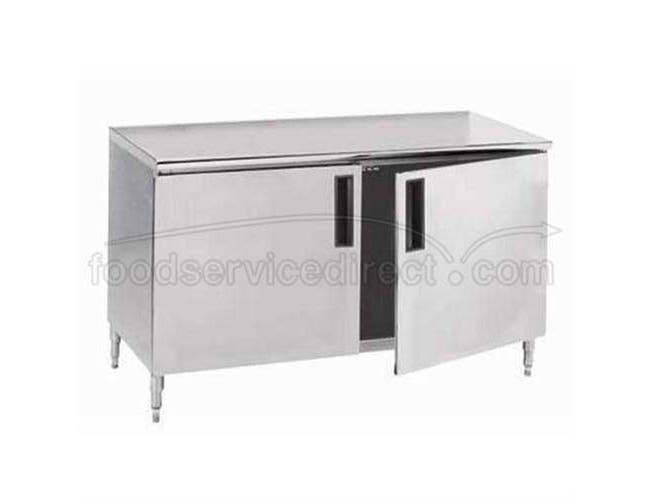 Stainless Steel Enclosed Base Work Table With Hinge Door, 36X96 inch -- 1 each.