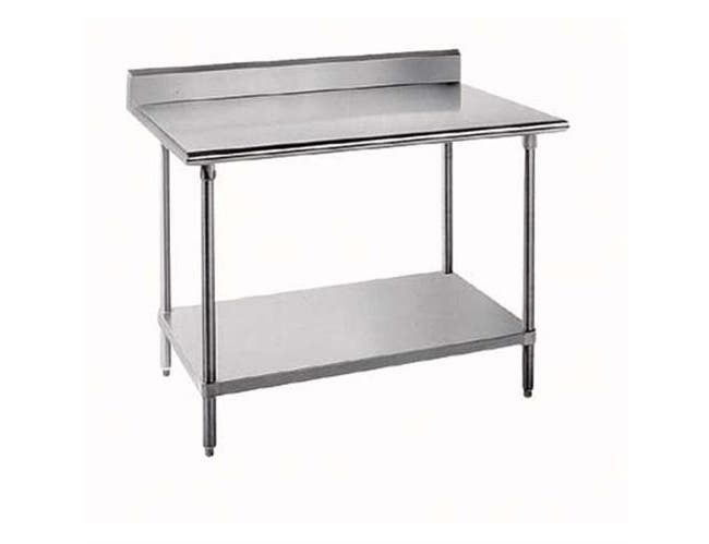 Economy Stainless Steel Work Table - 5 inch Splash, 24 x 60 inch -- 1 each.
