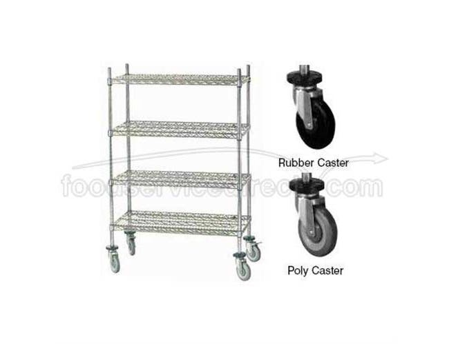 Mobile Cart 18 x 60 inch With Poly Caster -- 1 each.