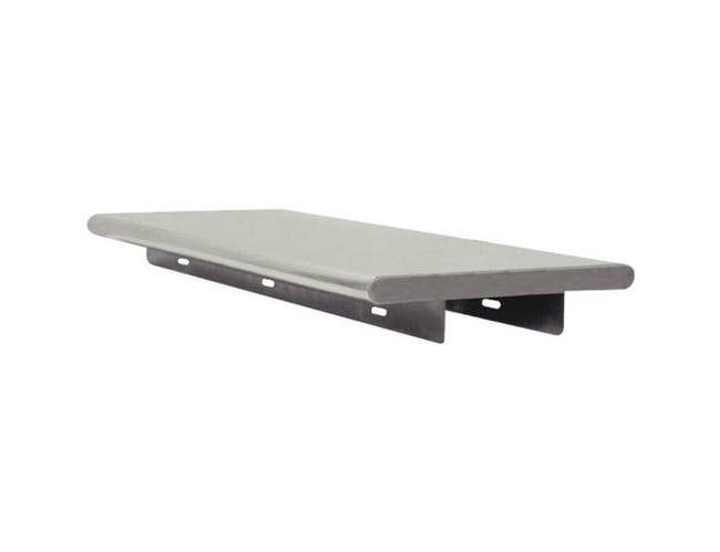Stainless Steel Pass Thru Shelf, 18 x 72 inch Provided With 2 - L Brackets -- 1 each.