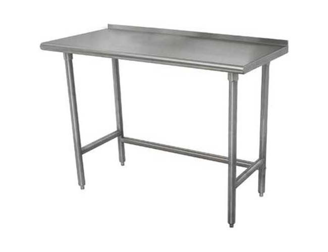 Wood Top Table with Open Galvanized Base, 30 x 60 inch -- 1 each.