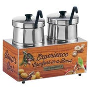 Server Twin Soup Merchandiser with 5 Quart Insets -- 1 each